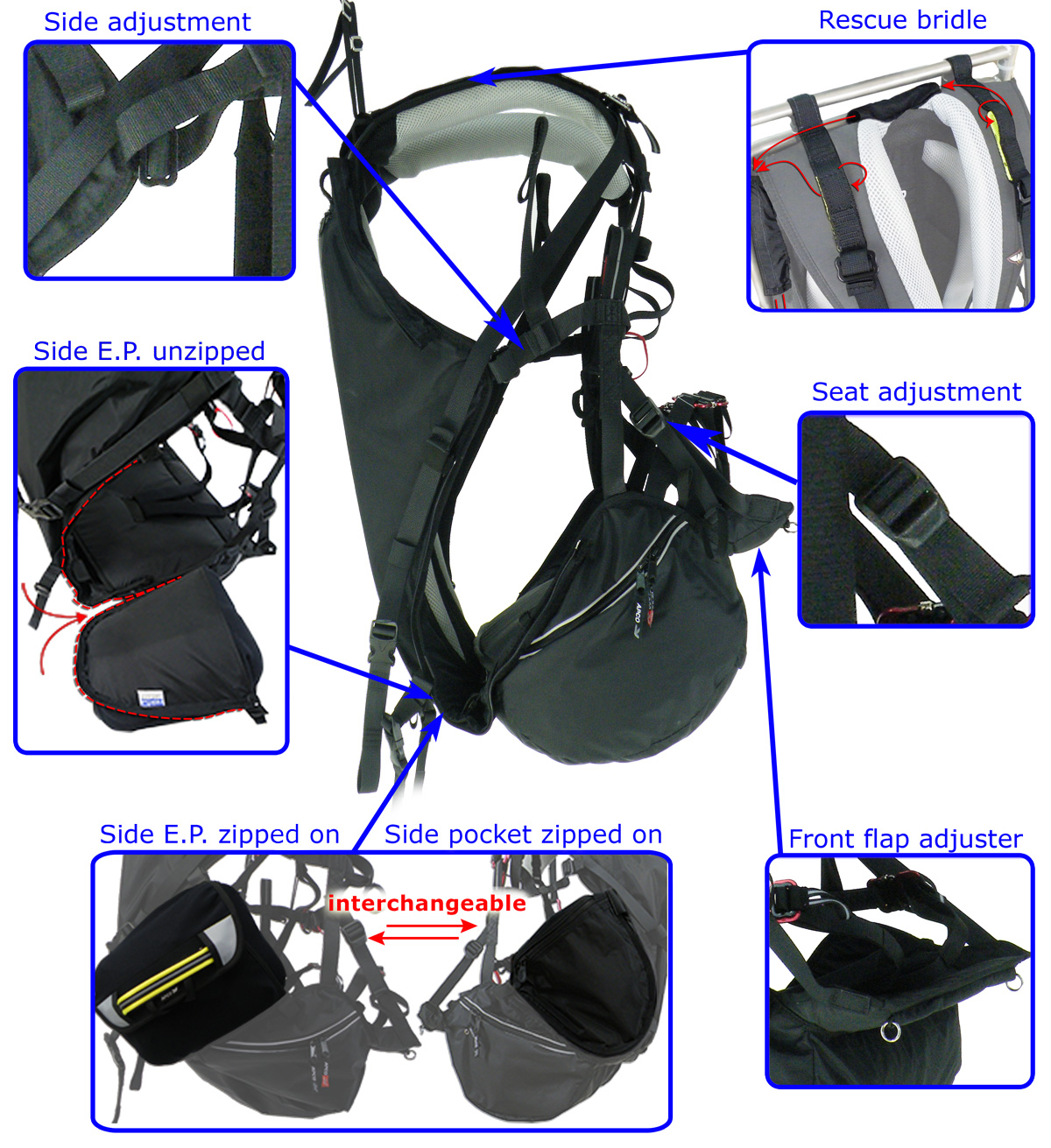 SLT PM Low Hook-In harness features